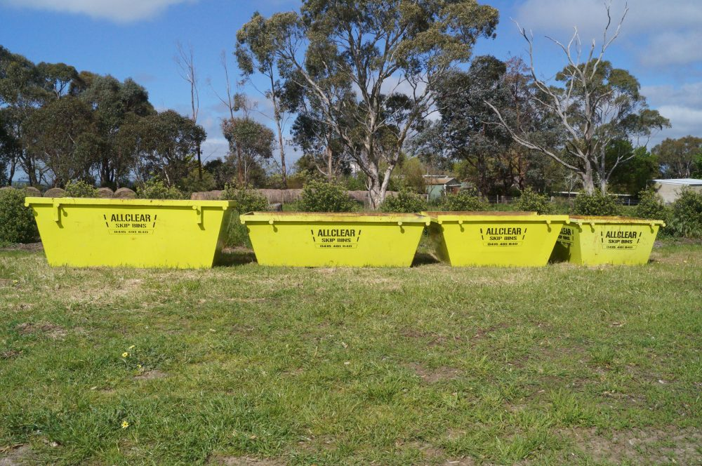 skip bin sizes Adelaide Hills All Clear Skip Bins